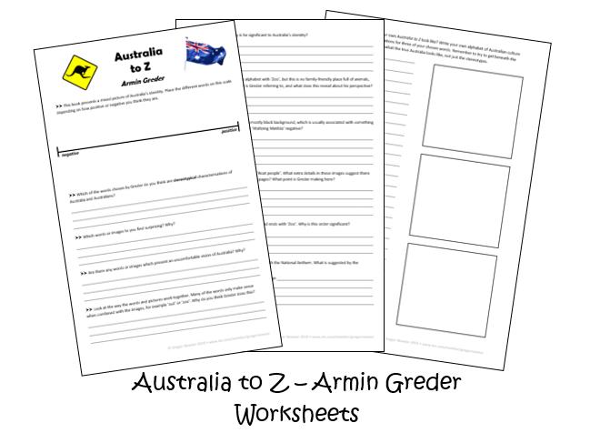 Australia to Z by Armin Greder - Worksheets