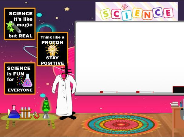 Science Virtual School Classroom Background