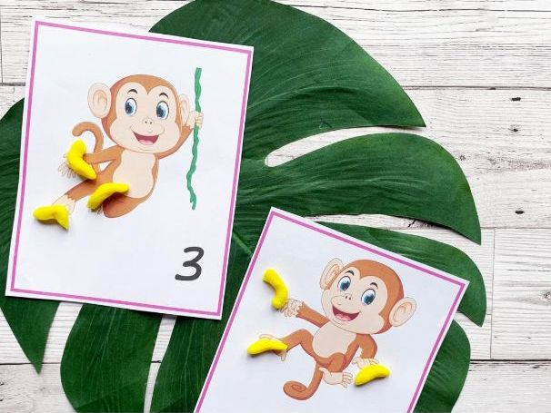 Animal Number Cards 1-10