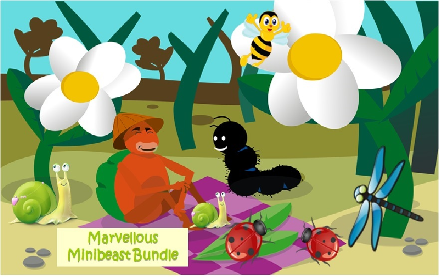 Marvellous  Minibeast Bundle: Snails, Dragonflies, Bees and Ladybirds