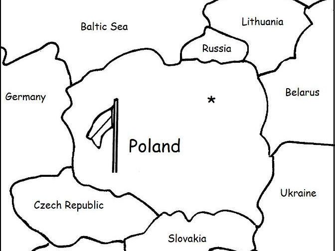 POLAND - Printable worksheets include a map to color