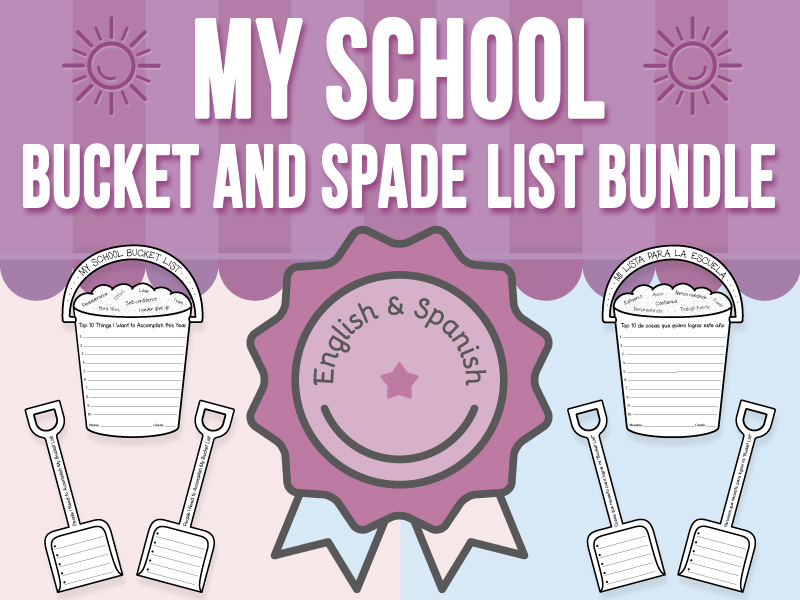 My School - Bucket and Spade List Craft BUNDLE