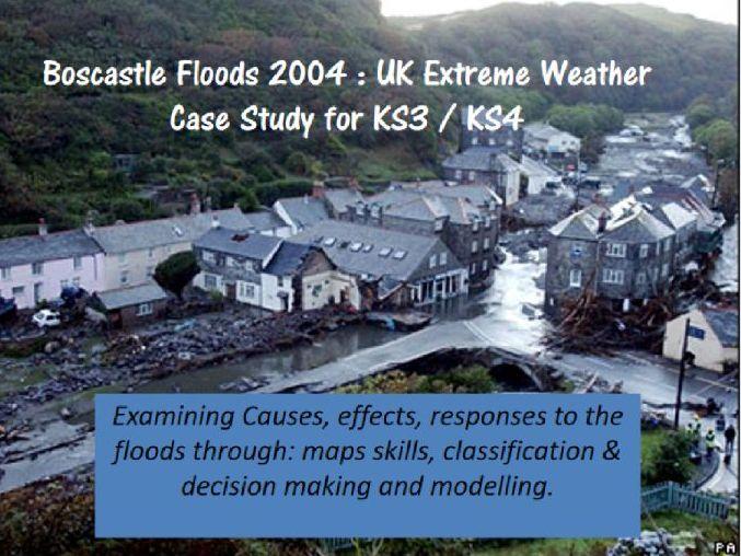 extreme weather UK: Boscastle floods