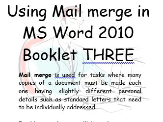 Mail Merge Office 2010  Book 3