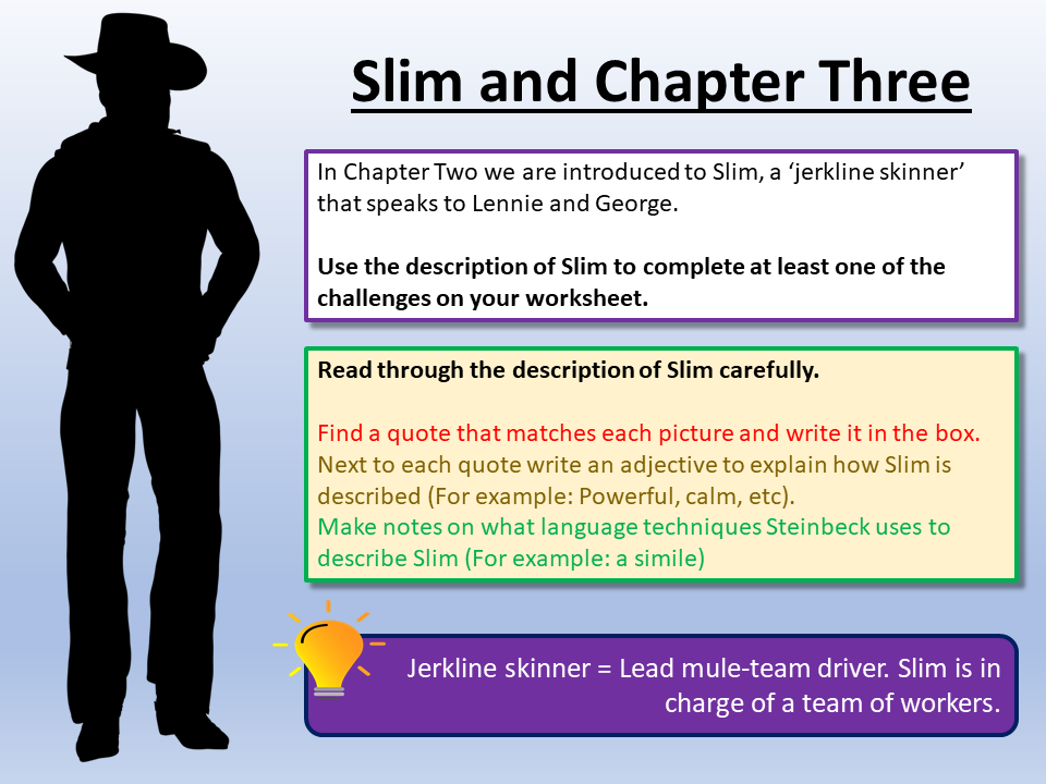 Of Mice and Men - Slim and Chapter Three
