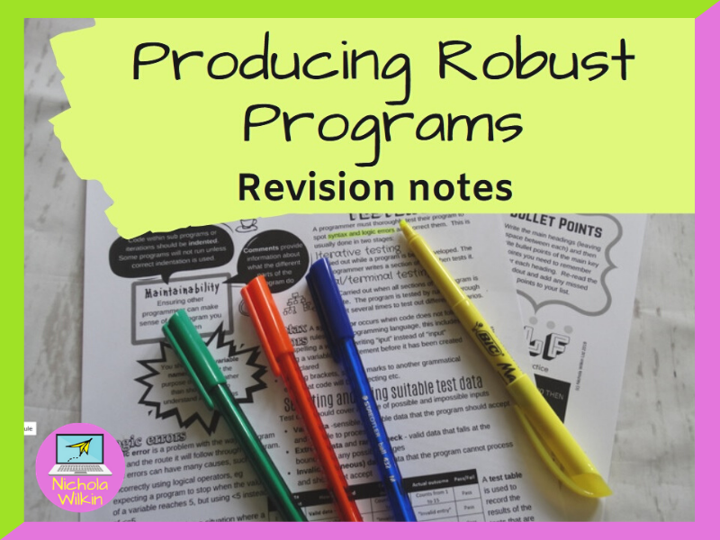 Producing Robust Programs Revision Knowledge Organiser