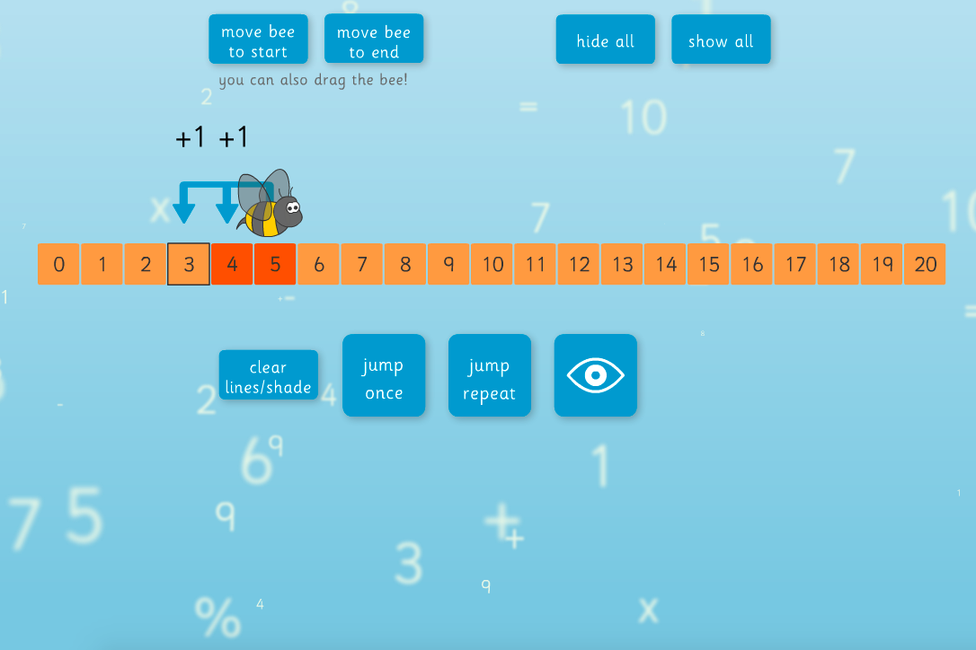 KS1/KS2 Number - Addition and subtraction interactive number line