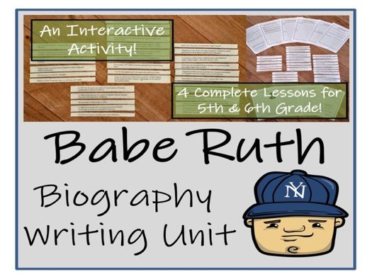 UKS2 History Babe Ruth Biography Writing Activity