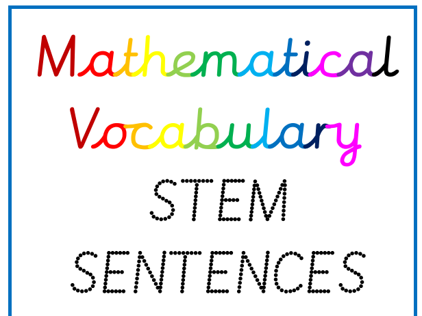 Maths Stem Sentences Display