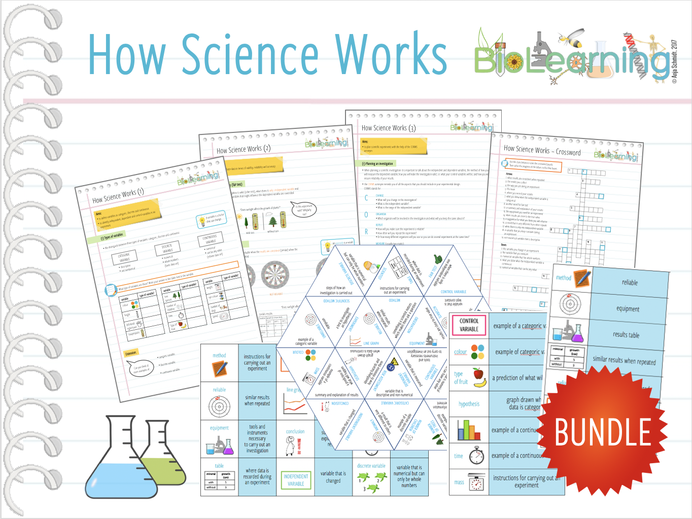 How Science Works (HSW) - 8x Worksheets, games and activities