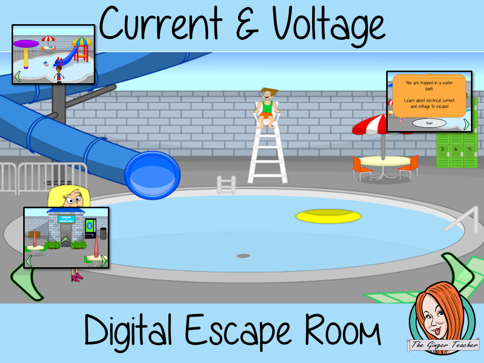Electrical Current and Voltage Escape Room