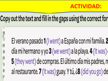 Selection of lessons for first unit of Viva 2 used with Year 9 Spanish