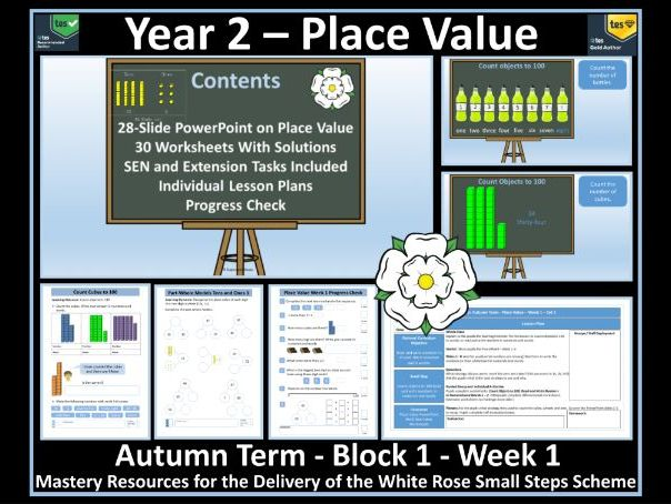Year 2 Place Value - Autumn Term - Week 1 - Maths' Resources For Delivery of White Rose Scheme