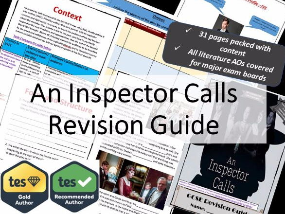 An Inspector Calls AQA GCSE Revision and Study Guide