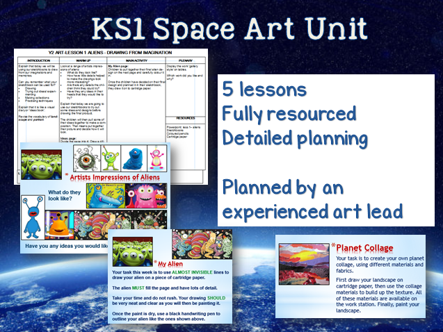 KS1 Space Art Unit - 5 lessons