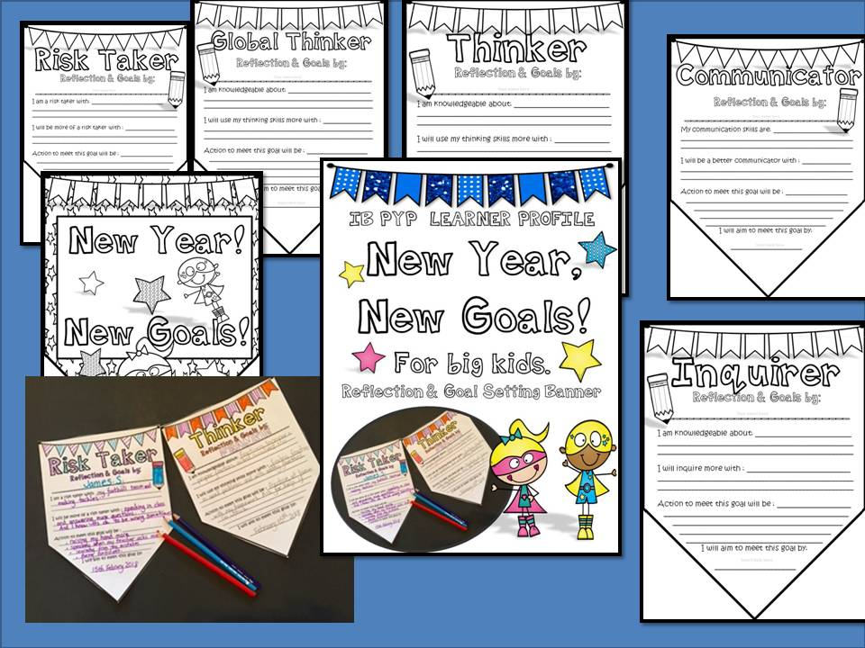 New Year, New Goals! Create Your Own IB PYP Goals Bunting for Big Kids.