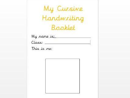 Cursive Handwriting Booklet A-Z