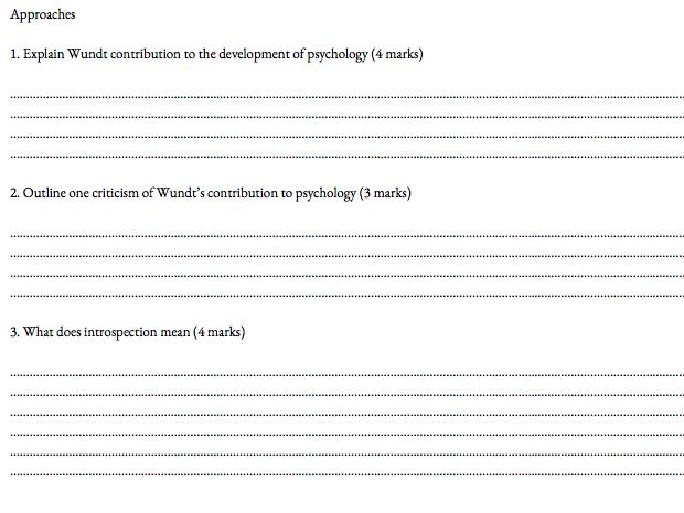 Psychology Paper 2 Past paper booklet