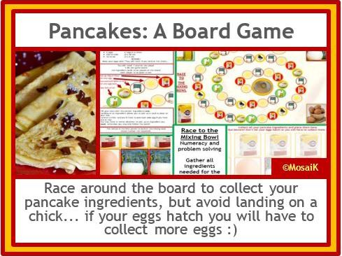 Pancake Day Board Game
