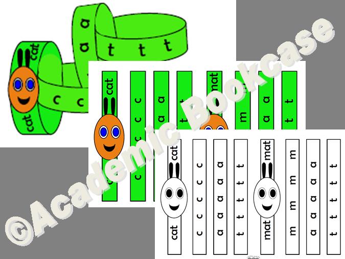 CVC words - caterpillar spellling practise activity