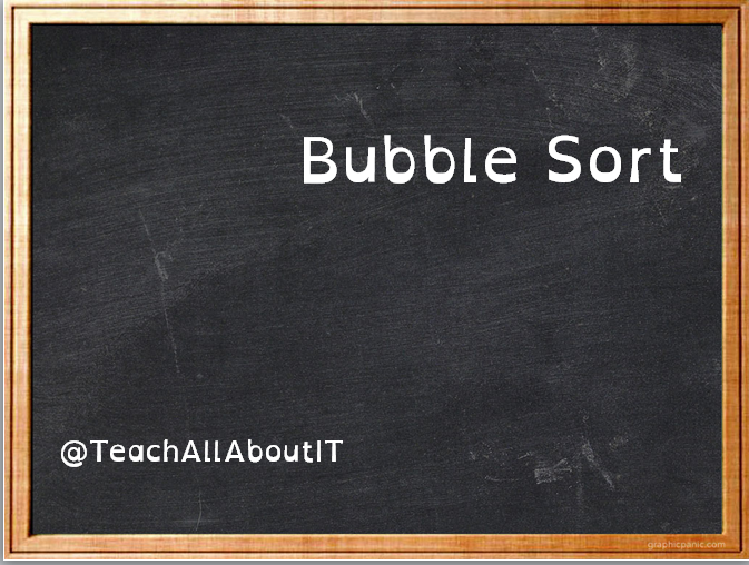 Bubble Sort - Code Along With Me in Python