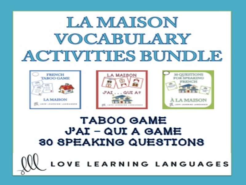 La Maison - Vocabulary Speaking Activities BUNDLE