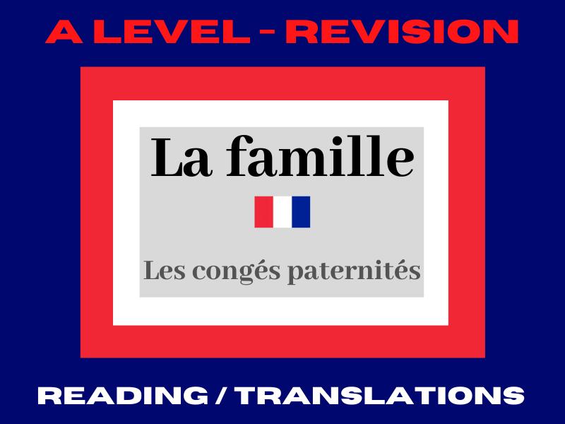 French A level congés paternité