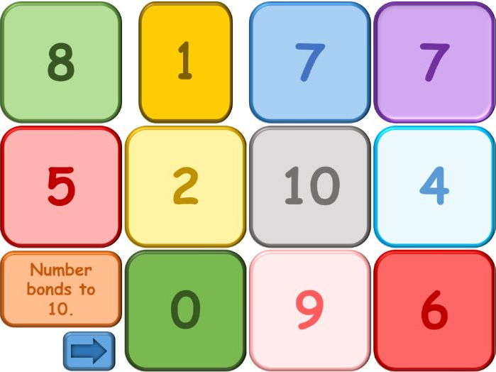 Number bonds to 10 and 20 Game