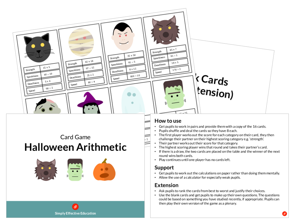 Halloween Maths Bundle