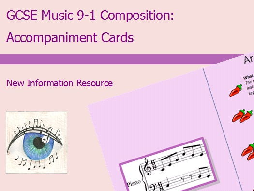 GCSE Music 9-1 Composition: Accompaniment Cards