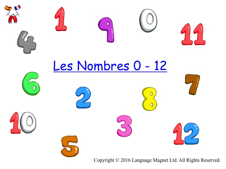 French Numbers 0 to 12 with Audio File
