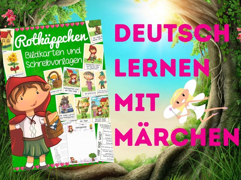 German Rotkäppchen - Materialpaket Bildkarten und Arbeitsblätter