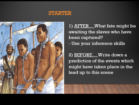 Who was involved in the slave trade?