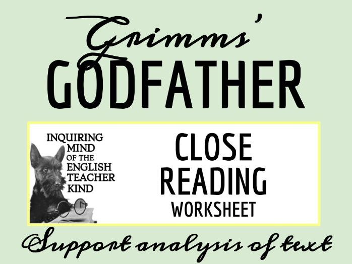 """Grimms' Fairy Tale """"The Godfather"""" Close Reading"""