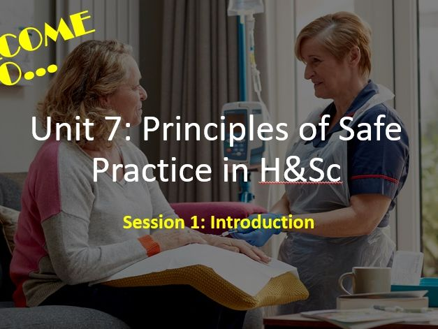 Unit 7 Principles of Safe Practice - LEARNING AIM A RESOURCES (WORKSHEETS)