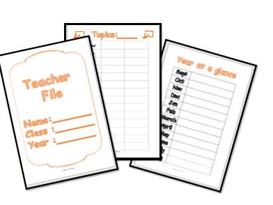 Teacher Planning File