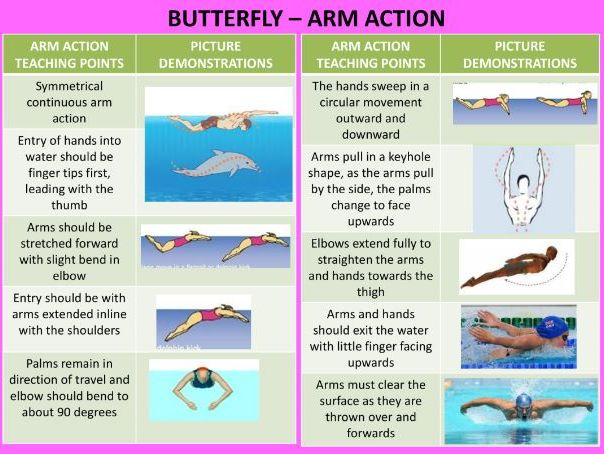 Butterfly Swimming Coaching Cards