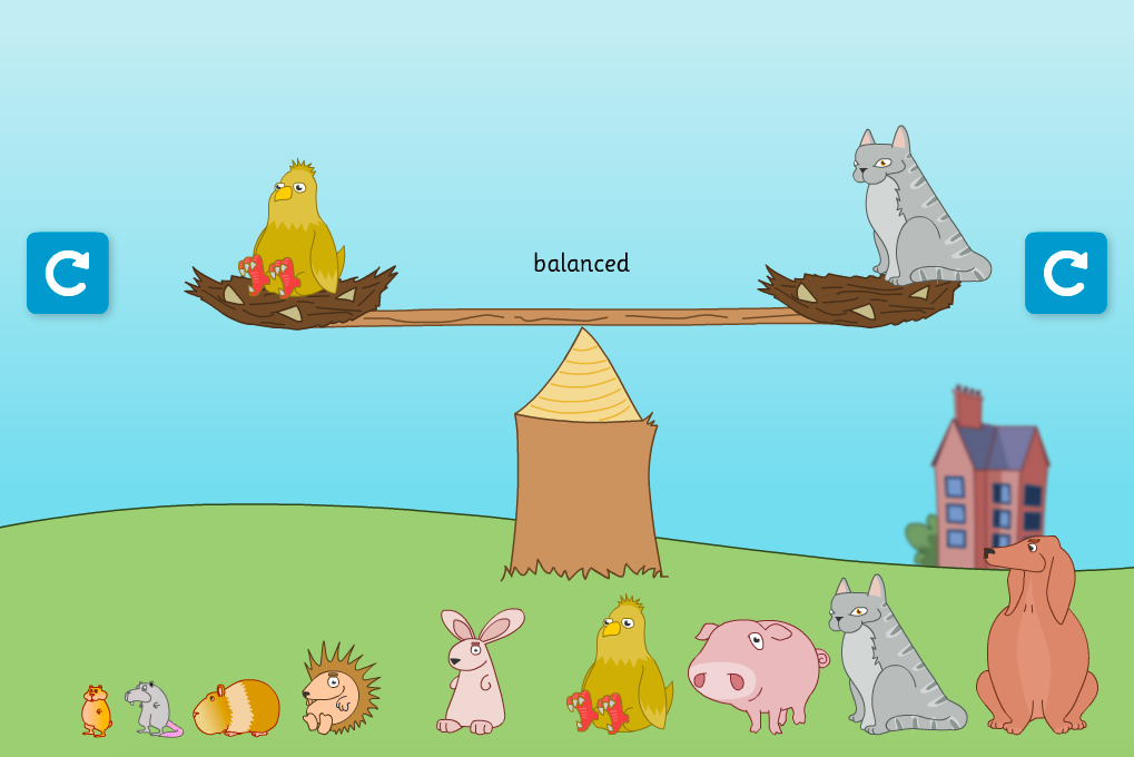 Balancing Animals Interactive Activity - KS1 Measurement