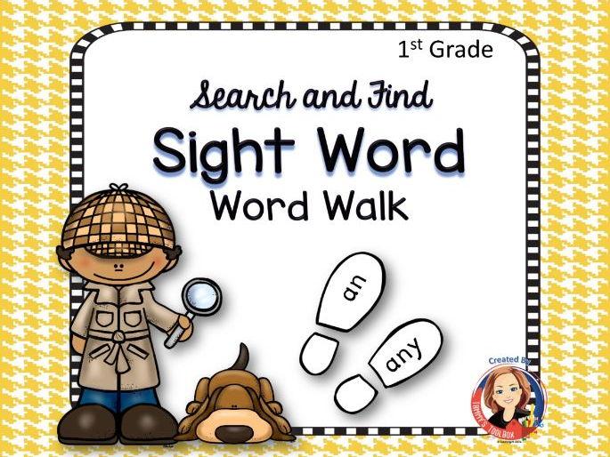 Sight Word Walk Activity, 1st Grade Words