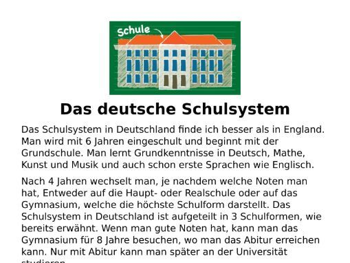 Das deutsche Schulsystem - Listening and Transcript
