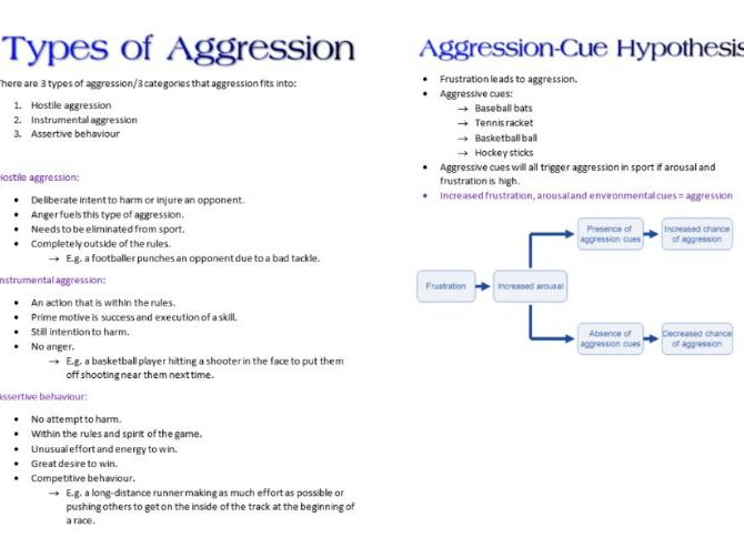Agression Booklet AS PE Psychology for OCR