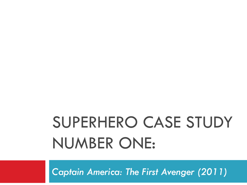 Captain America: The First Avenger - a case study for WJEC GCSE Film Studies Paper 1 LEGACY spec