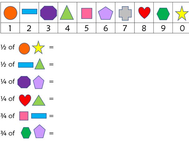 Emoji fraction questions