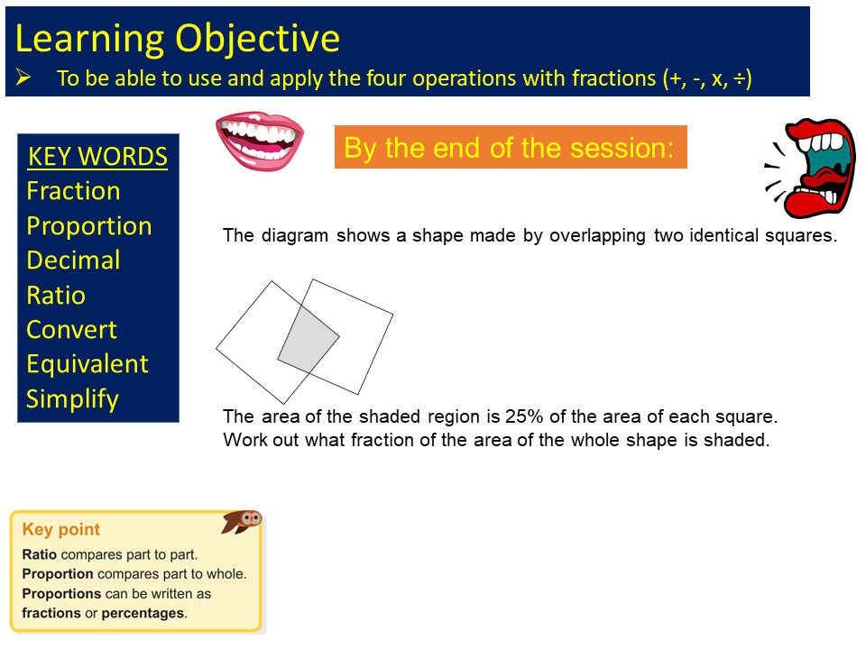 GCSE 1-9 Foundation Fractions Rules Revision