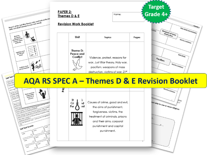 AQA GCSE RS - Themes D & E Revision Booklet