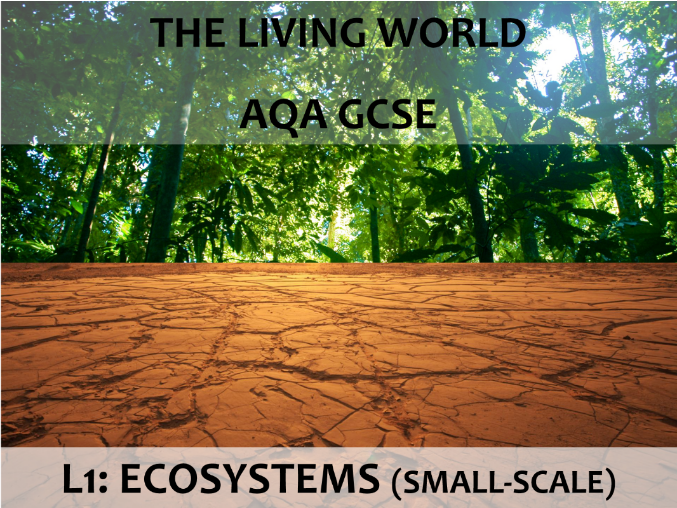 AQA GCSE (2016) - The Living World - L1 Ecosystems (small-scale)