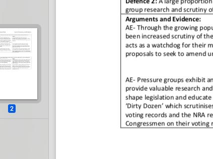 "EDEXCEL A level Politics ""Evaluate if pressure groups enhance or undermine US democracy"" essay plan"