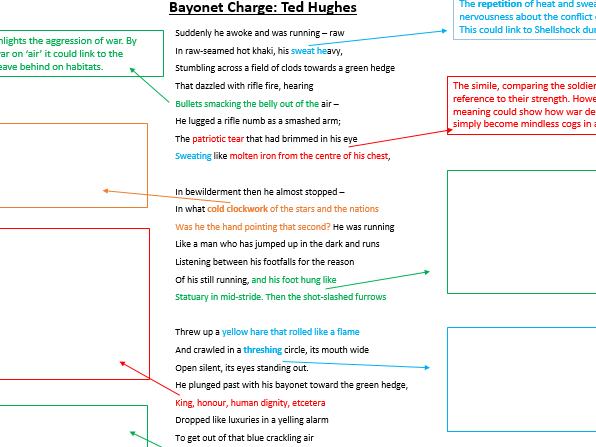 comparison of bayonet charge and belfast