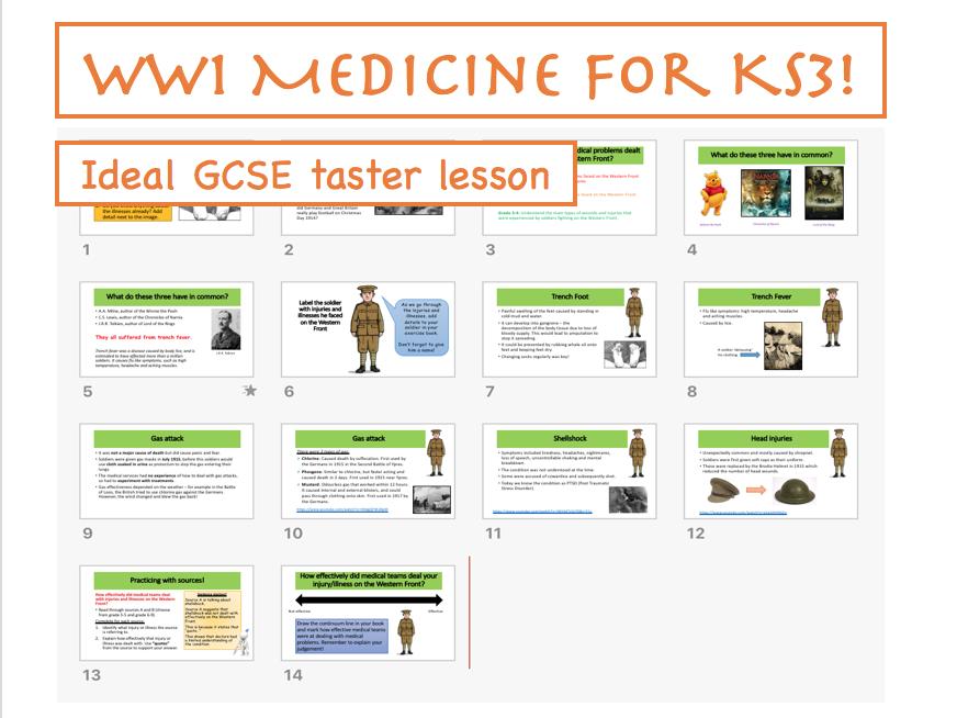 WW1 Medicine for KS3
