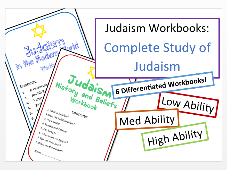 Study of Judaism: Differentiated Workbook Bundle